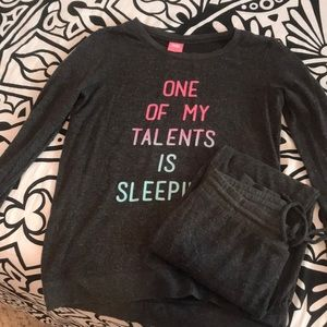 Long Sleeve and Sweatpants PJ Set